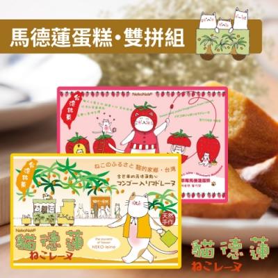 貓德蓮 瑪德蓮蛋糕雙拼組(芒果+草莓)