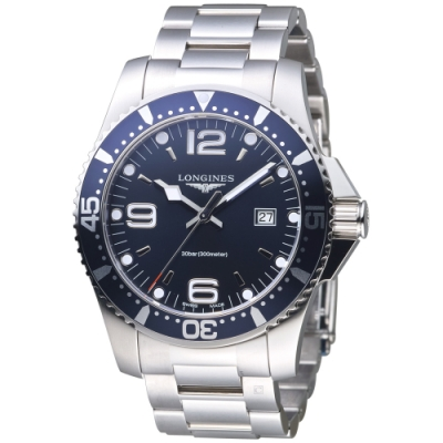 LONGINES Hydro Conquest系列時尚潛水腕錶 (L38404966)-藍