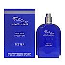 JAGUAR積架 EVOLUTION 藍色經典男性淡香水 100ml TESTER(無蓋)