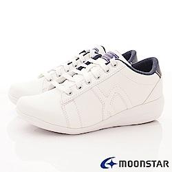 日本Moonstar戶外健走鞋-3E寬楦輕量抗菌款 4061白(女段)