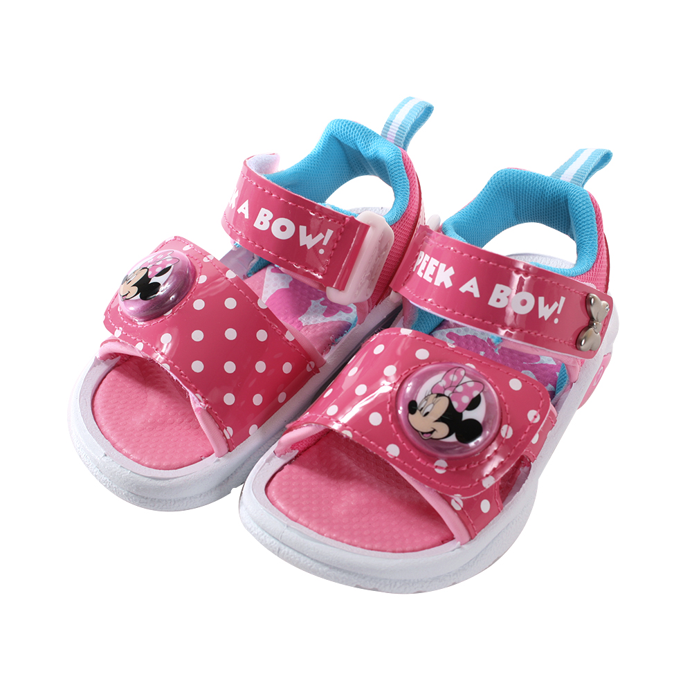 魔法Baby迪士尼米妮女童閃燈涼鞋 sk0758