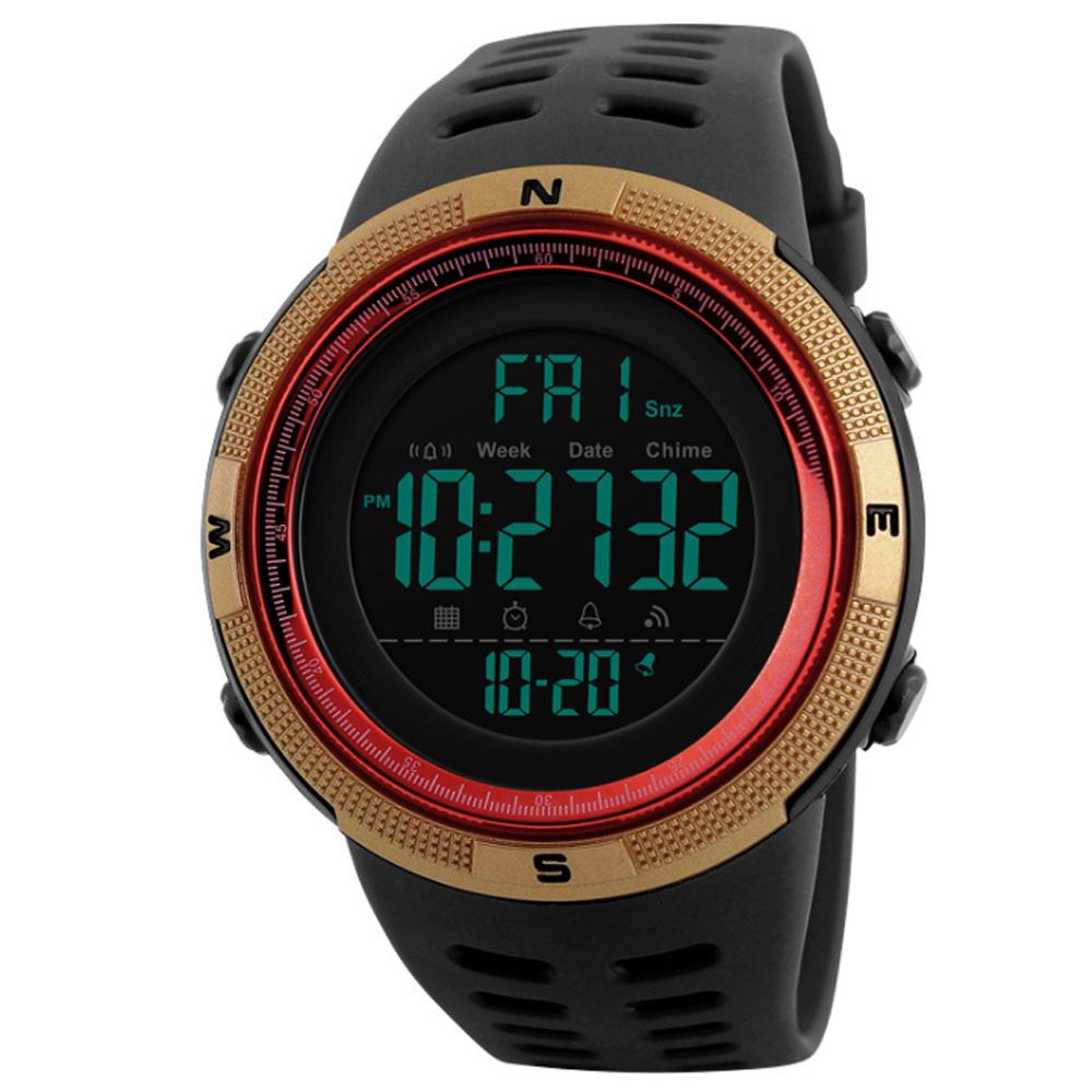 SKMEI 時刻美1251-型男潮搭大數字運動電子錶(2色任選)
