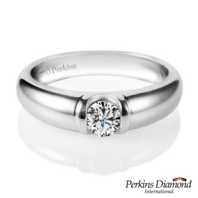 PERKINS 伯金仕 - 經典男戒系列 18K金 0.30克拉鑽石戒指