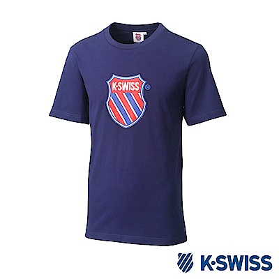 K-SWISS Heritage T-Shirt印花短袖T恤-男女-藍