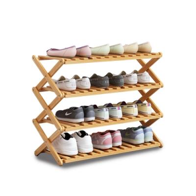 【VENCEDOR】 免安裝木質鞋架 (四層)