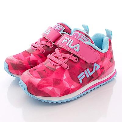 零碼-16cm FILA頂級童鞋 後穩定運動款 832Q-223桃藍