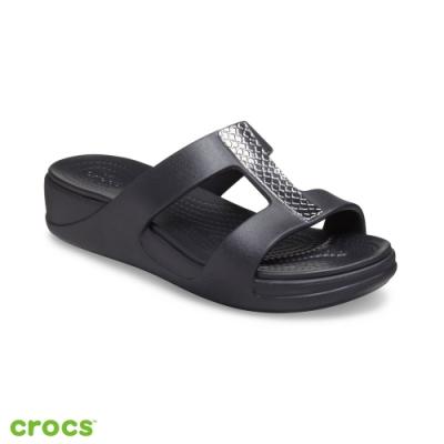 Crocs卡駱馳 (女鞋) 蒙特利金屬坡跟凉拖 206319-0GQ