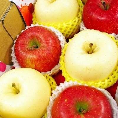 【鮮果日誌】金紅招財櫻桃禮盒(櫻桃2.5台斤+蜜蘋果3入+金星蘋果3入)