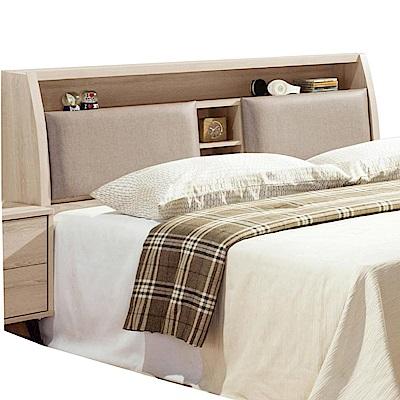 綠活居 羅利略時尚5尺皮革木紋雙人床頭箱-150x30x105cm-免組