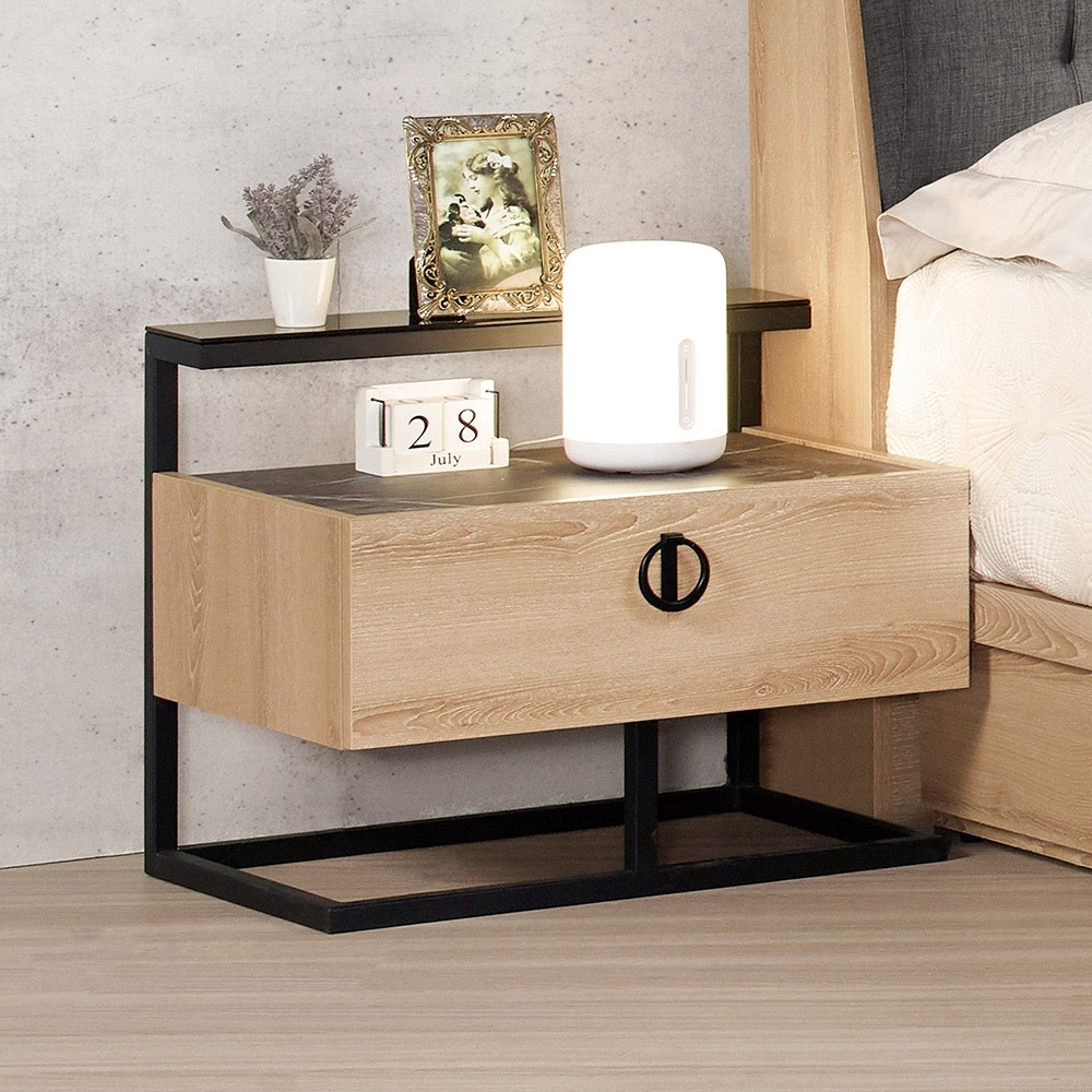 Boden-尼克森1.9尺床頭櫃/一抽收納櫃/置物櫃-58x43x49cm