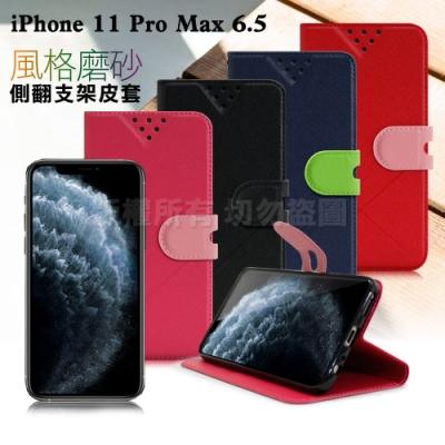 NISDA for iPhone 11 Pro Max 6.5 風格磨砂支架皮套