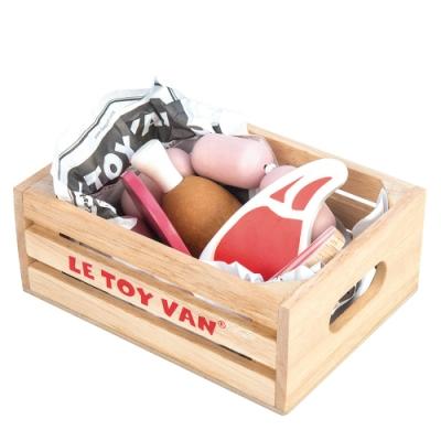英國 Le Toy Van 角色扮演系列-新鮮肉品盒玩具組