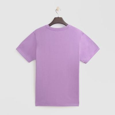 Hang Ten - 男裝 - 有機棉-圓領純色T恤 - 紫