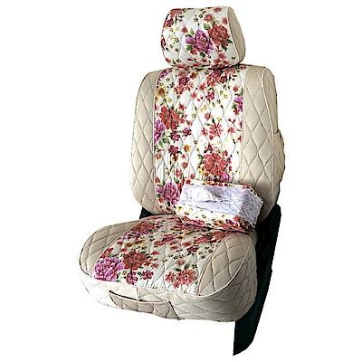 【葵花】量身訂做-汽車椅套-布料-花漾排汗A-露營車款-1+2排
