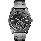 Fossil Q Machine Hybrid 智慧型手錶-鐵灰/44mm FTW1166