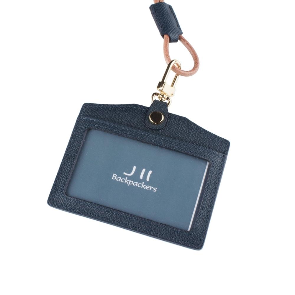 J II 粗礦牛皮橫式雙卡證件套-2102-3