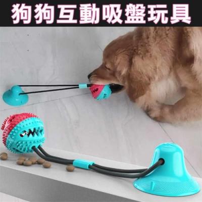 吸盤狗狗磨牙玩具 耐咬球 拉扯 互動玩具 餵食器 漏食預購