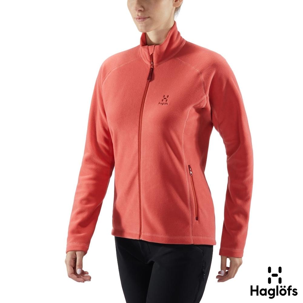 新品↘Haglofs 女 Astro 保暖 透氣 刷毛外套 銹粉紅
