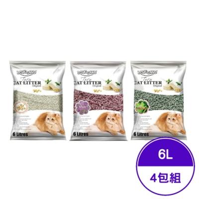 LOVE SAND莉莎-凝結豆腐環保砂系列 6L(2.8KG) (4包組)