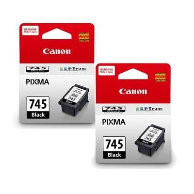 Canon PG-745/PG745 原廠黑色墨水匣(2入組)