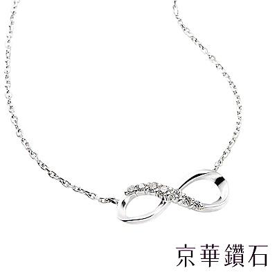 京華鑽石 infinity系列 0.10克拉 10K鑽石項鍊