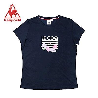 le coq sportif 法國公雞牌涼感舒適經典短袖T恤 女-丈青