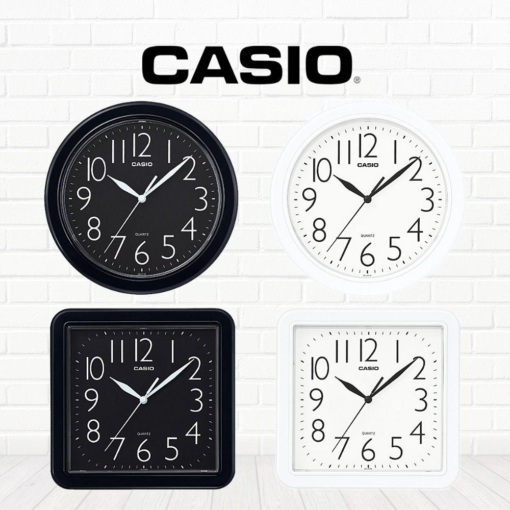 CASIO卡西歐 簡約黑白掛鐘IQ-01S/IQ-02S(四款任選)
