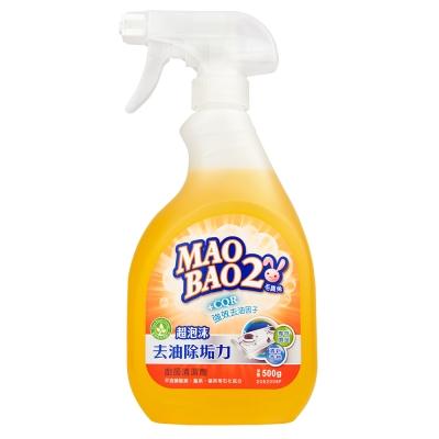 毛寶兔超泡沫廚房去油除垢清潔劑500g-噴槍瓶