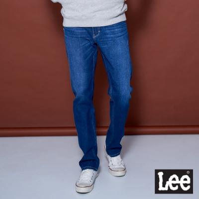 Lee 726 玉石涼感+四面彈牛仔褲 中腰標準直筒/UR 男款 深藍