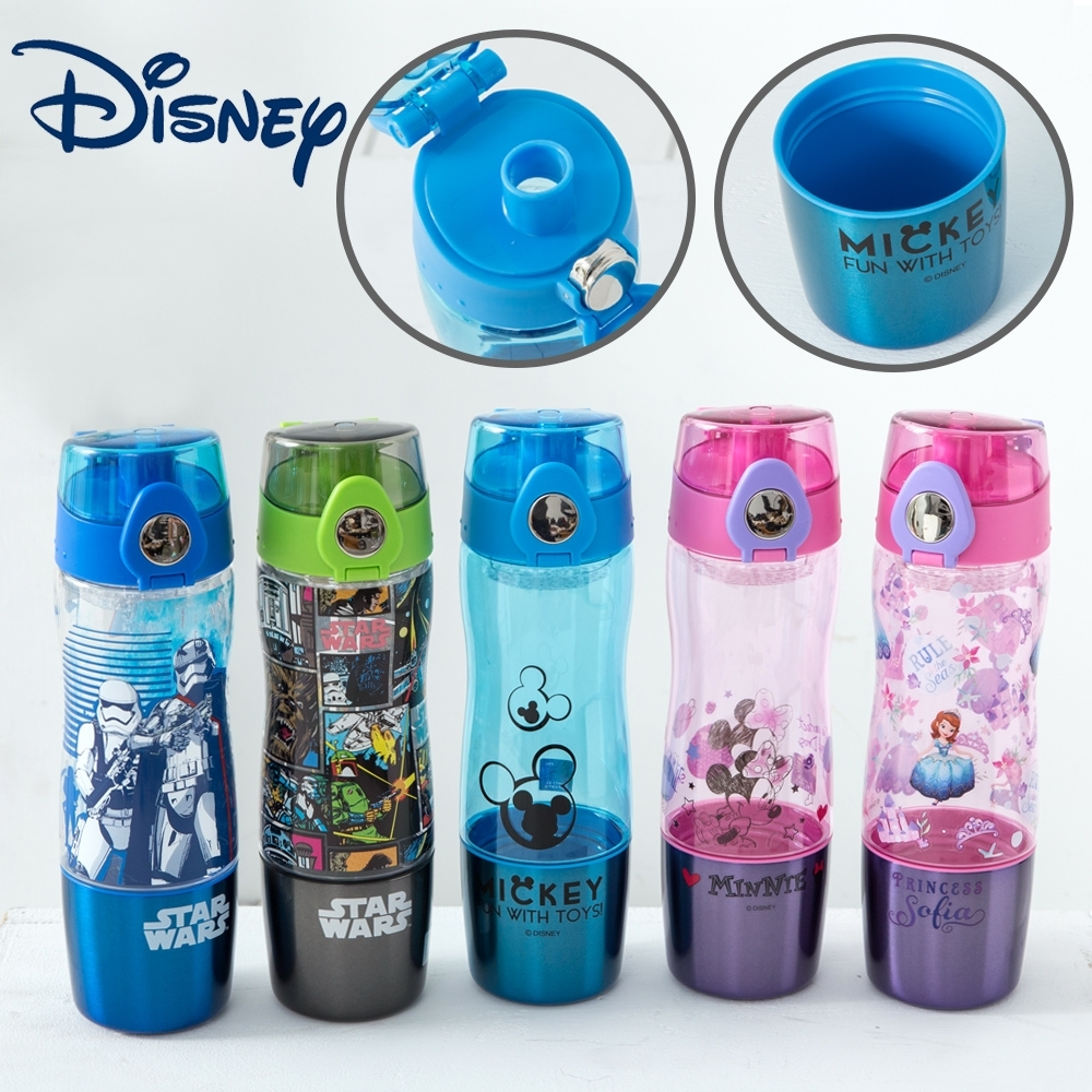 【優貝選】迪士尼人氣卡通 直飲式兒童水壺(550ML)