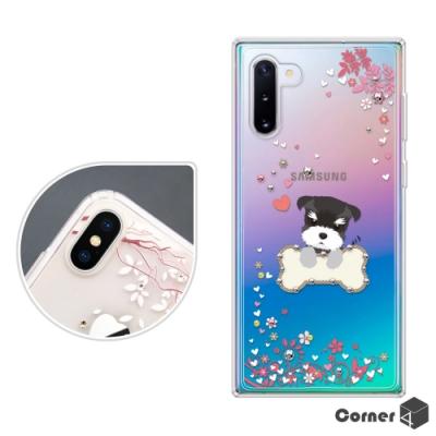 Corner4 Samsung Note 10 奧地利彩鑽雙料手機殼-俏皮小Q