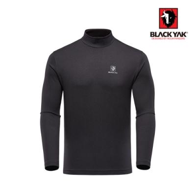 【BLACK YAK】男半高領素面長袖上衣[黑色]