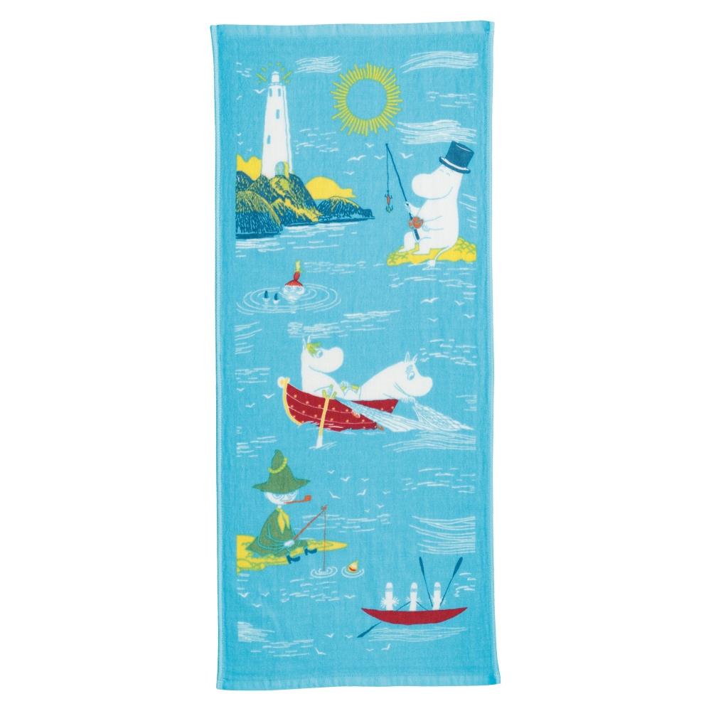 日本丸真 Moomin嚕嚕米 今治紗布毛巾- 夏季湖畔