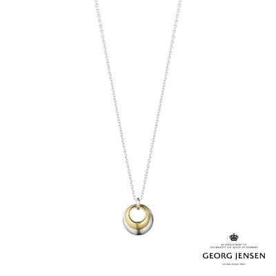 Georg Jensen 喬治傑生 CURVE 18K金純銀項鍊