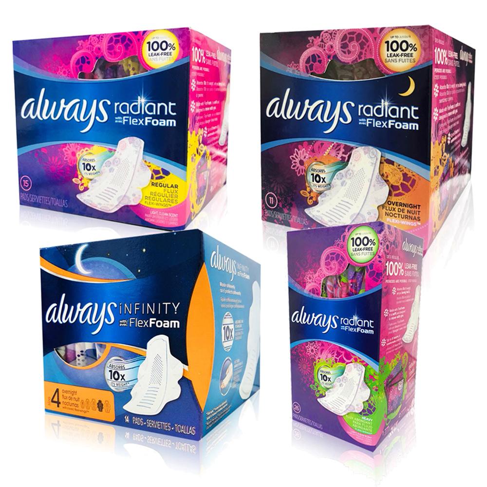 [限時搶購]Always 液體衛生棉-美國限量版/幻彩未來感系列/盒(種類可選)