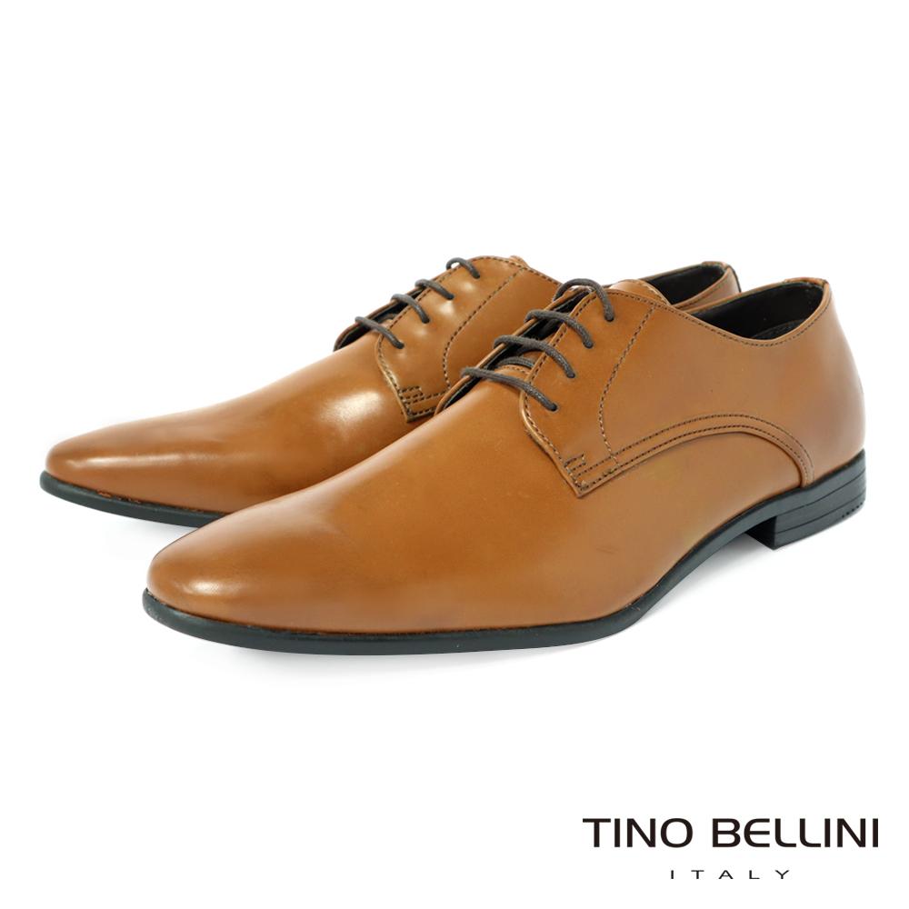 TINO BELLINI 經典簡約素面綁帶紳士鞋