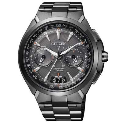 CITIZEN 黑鈦衛星對時光動能旗艦腕錶(CC1085-52E)-黑/48mm