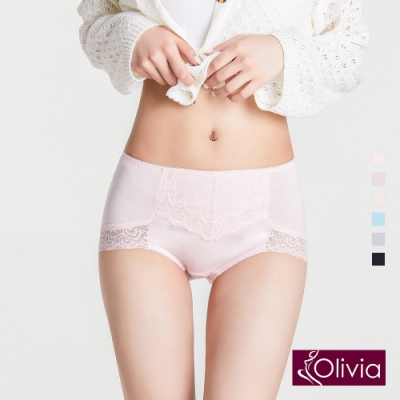 Olivia 莫代爾蕾絲包臀高腰內褲-粉色