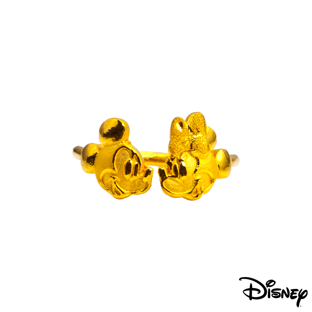 Disney迪士尼系列金飾 相望黃金戒指