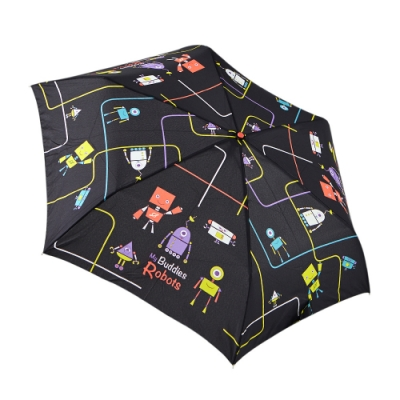 RAINSTORY 機器人(黑)抗UV手開輕細口紅傘