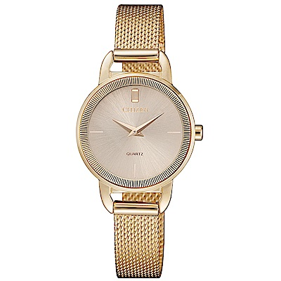 CITIZEN星辰LADYS簡約時尚米蘭帶腕錶/EZ7003-51X