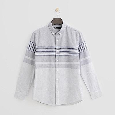 Hang Ten - 男裝 - 條紋設計襯衫 - 白