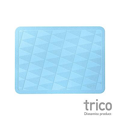 Trico 菱格瞬吸珪藻土地墊-藍