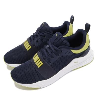 Puma 慢跑鞋 Wired Run 運動休閒 女鞋 路跑 緩震 輕量 透氣 球鞋穿搭 大童 藍 白 37421407