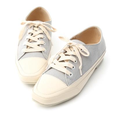 D+AF 自在首選.小方頭多色帆布休閒鞋*灰