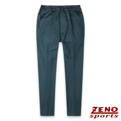 ZENO 保暖刷毛彈力圓點機能長褲-二色
