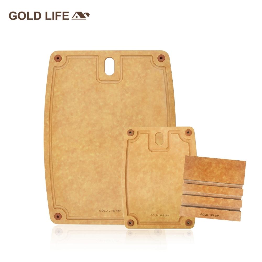 GOLD LIFE美國原木不吸水抗菌砧板大+小 再送GOLD LIFE砧板架(快)