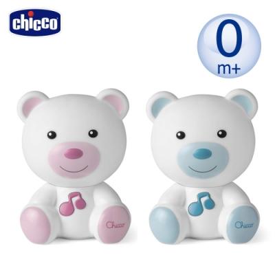 chicco-美夢晚安熊音樂夜燈(粉藍/粉紅)