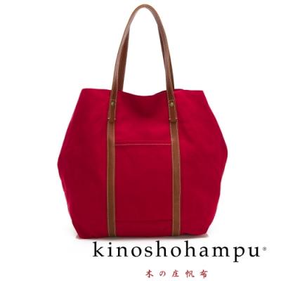 kinoshohampu NO.9手工帆布包 紅X咖啡