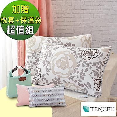 (父親節特惠組)2入- LooCa 瑰麗天絲蠶絲獨立筒枕